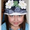 Háčkovaný klobouček pro dceru