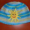 Háčkovaná sluníčková čepice