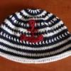 Háčkovaná námořnická čepice