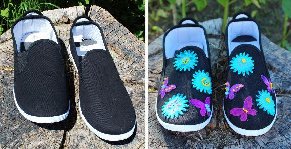 ozdobené boty filcem